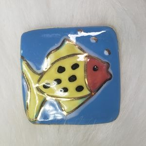 Jewelry - Vintage Ceramic Fish Pin